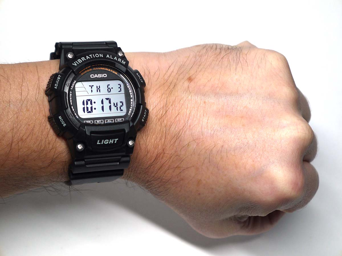 Vibration In Foot >> Casio W-736H Vibration Alarm Super Illuminator Watch