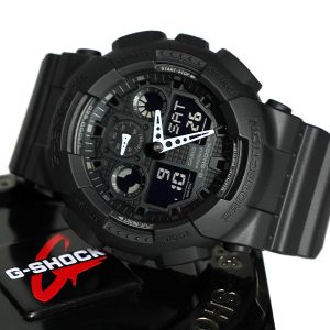 Casio GA-100-1A1 Military Series Watch in Black