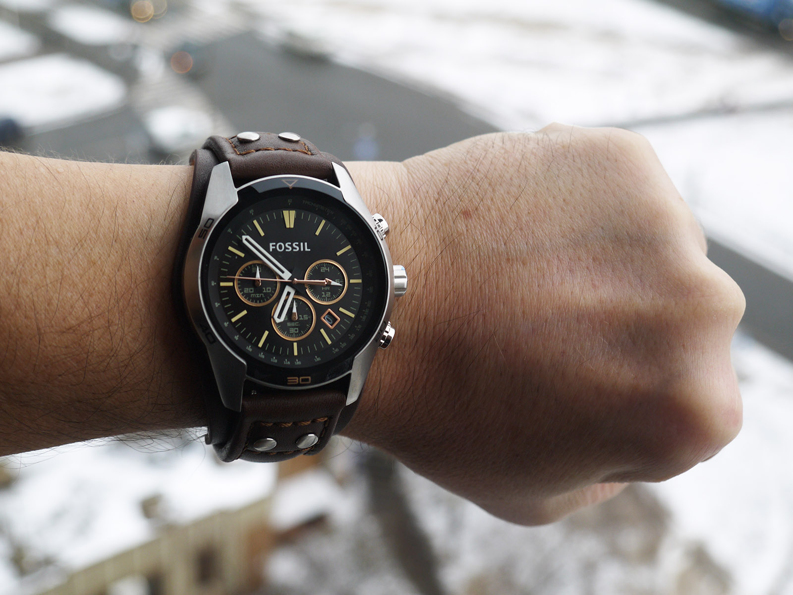 Coachman Chronograph Brown Leather Itravelpages Jam Tangan Fossil Original Watch Ch2891
