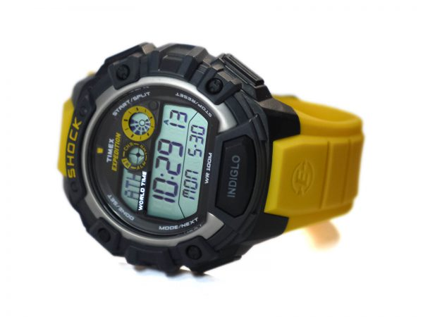 Timex T49974 Expedition Watch with Yellow Resin Band