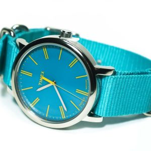 Timex Originals T2P363 Ladies Original Turquoise Nylon Strap Watch
