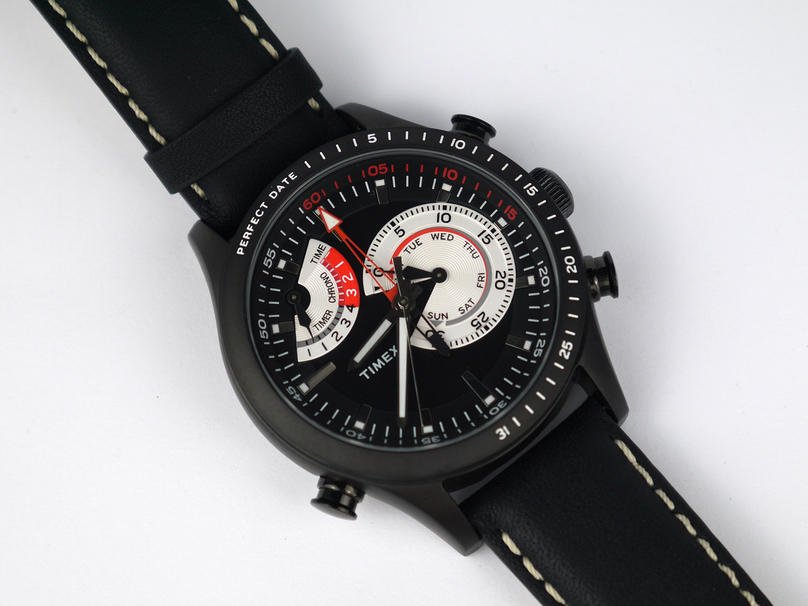 Timex Tw2p72600 Intelligent Quartz Watch High Quality Gallery Expedition E6339 Men Black Leather Brown