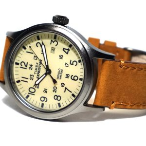 Timex TwC001200 Expedition Scout Natural Tan Leather Strap Watch