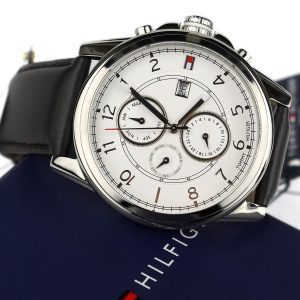 Tommy Hilfiger 1710294 Stainless Steel Watch with Leather Band