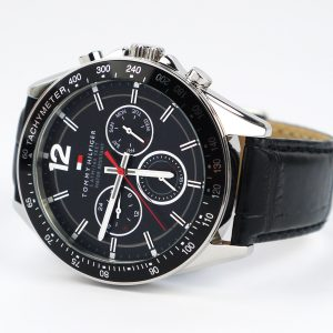 Tommy Hilfiger 1791117 Sophisticated Sport Watch With Black Leather Band watch