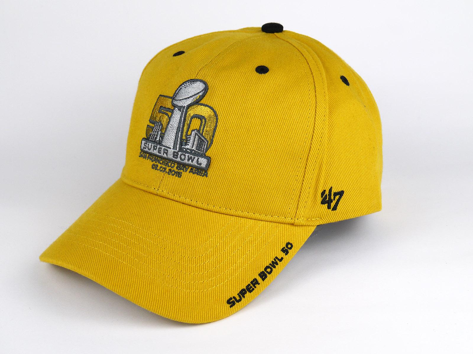 fe839a095d556 Cap 47 Brand NFL Super Bowl 50 Gold 01