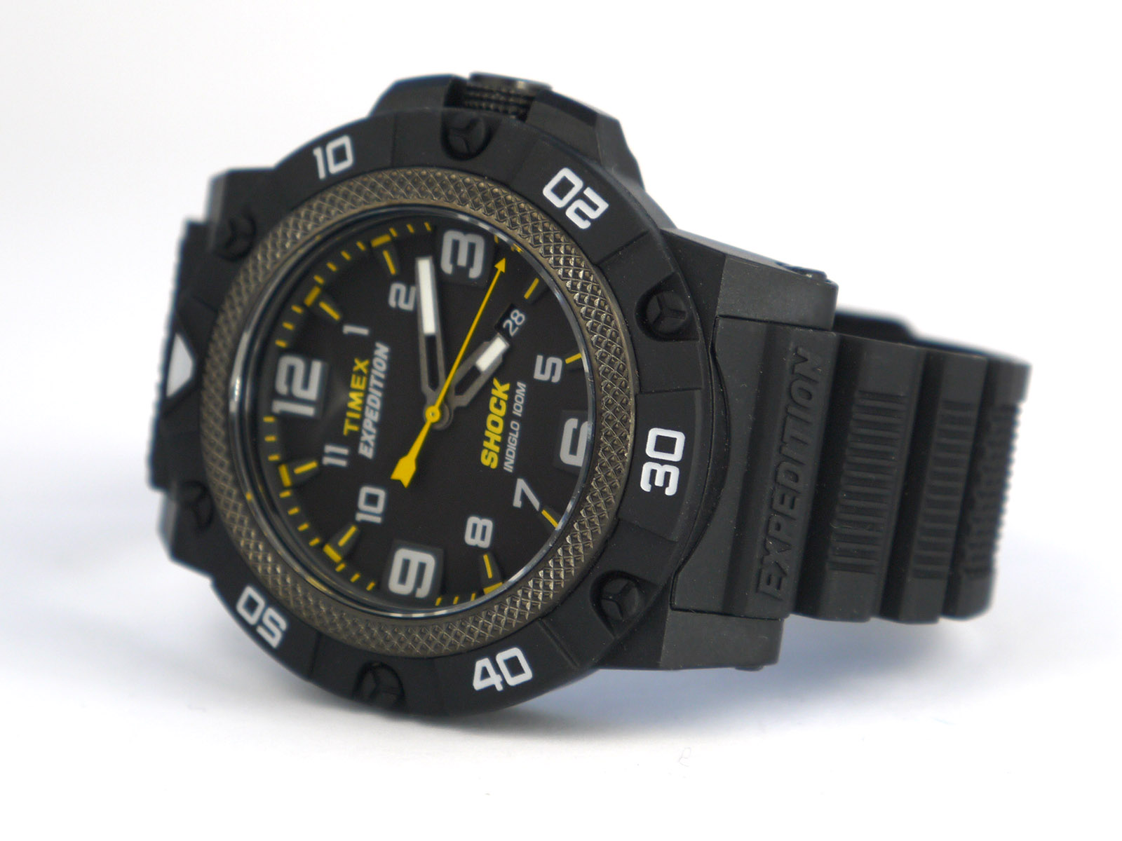 Timex Men's TW4B01000 Expedition Field Shock Black Resin Strap Watch