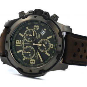 Timex TW4B01600 Expedition Shock Brown Strap Chrono Watch