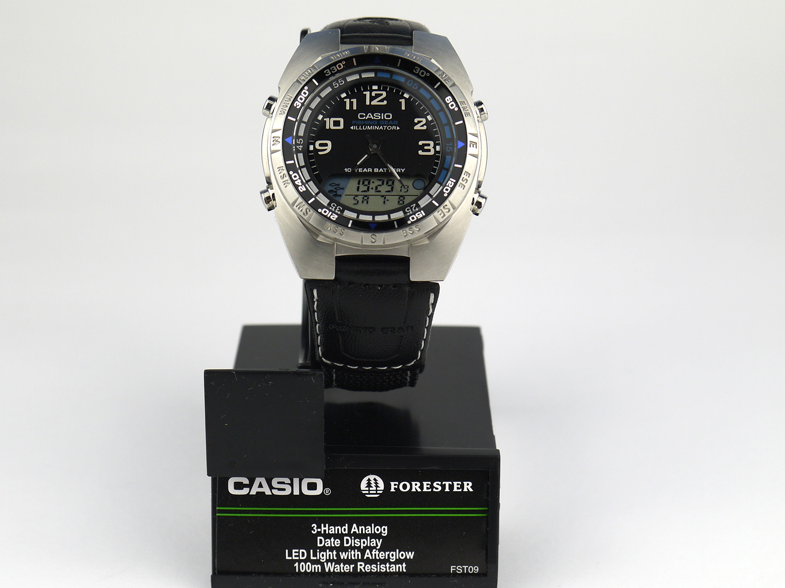 Casio AMW700B-1AV Ana-Digi Forester Fishing Timer Watch
