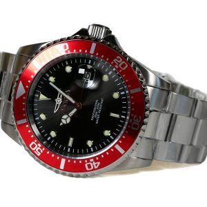 Invicta 22020 Pro Diver Quartz Stainless Steel Red Bezel Watch