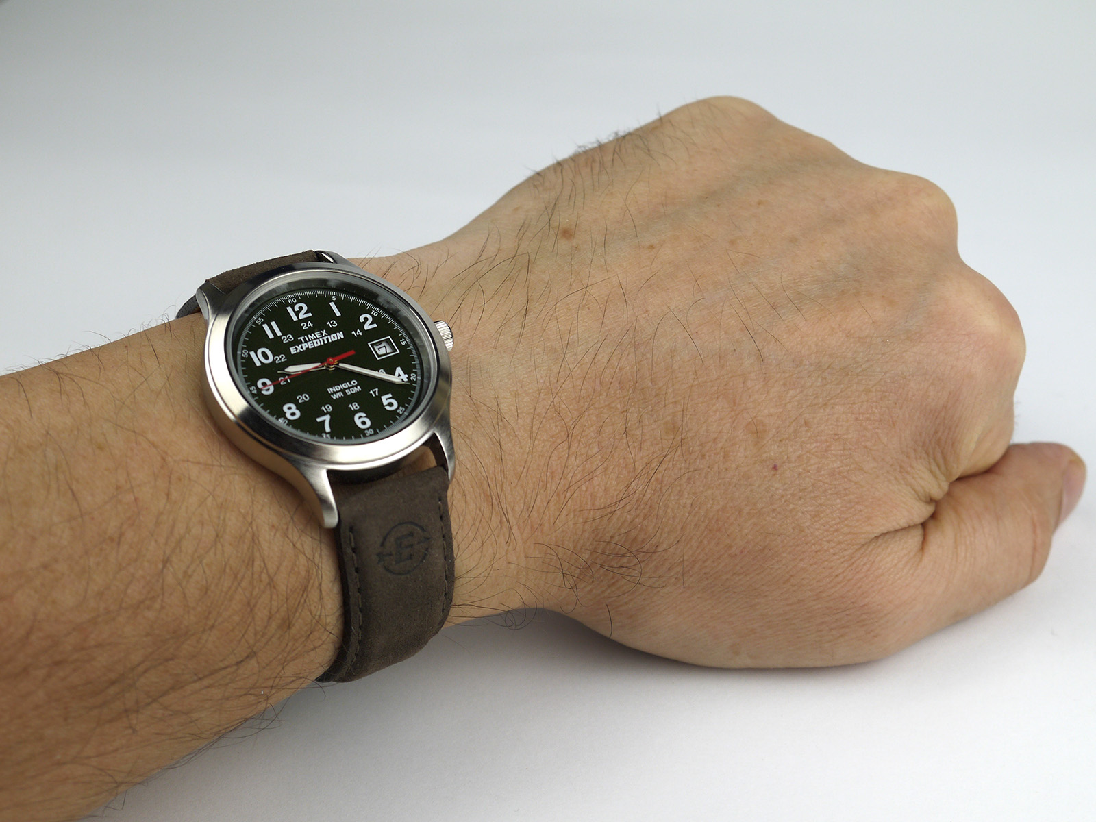 1bf001f9c Timex T40051 Expedition Metal Field Olive Dial Brown Leather Strap Watch ·  Timex ...