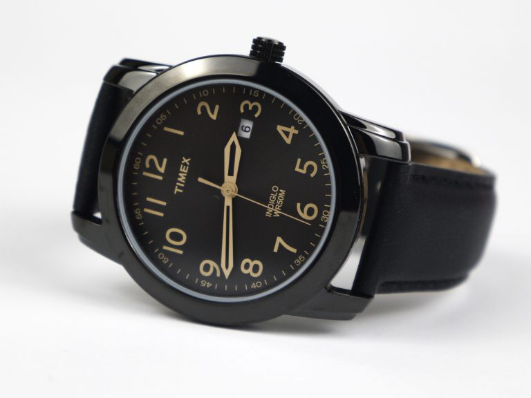 Timex Tw2R29800 Easy Reader Black Leather Strap Watch