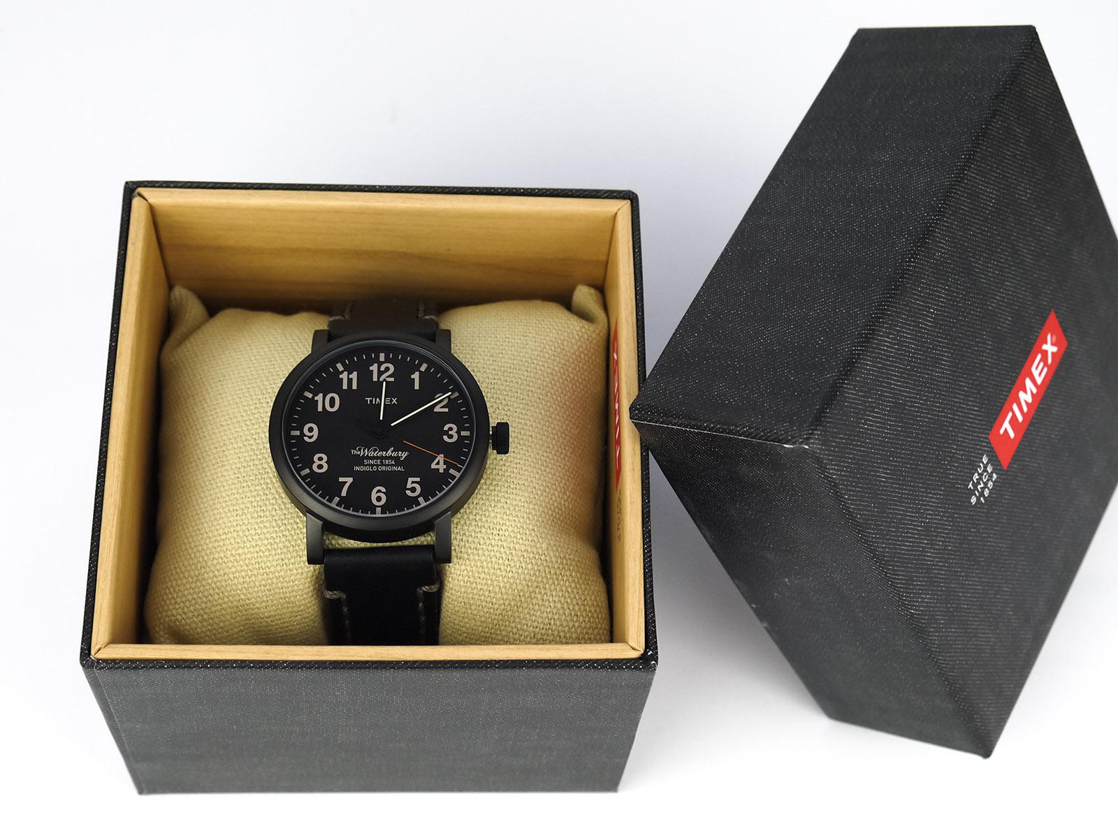 Timex Tw2P59000 Waterbury Black IP Watch
