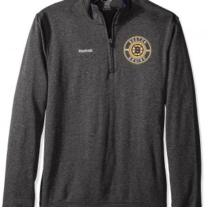 Reebok NHL Boston Bruins Fleece 1/4 Zip Grey