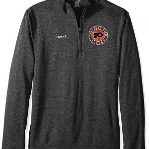 Reebok NHL Philadelphia Flyers Fleece 1/4 Zip Grey