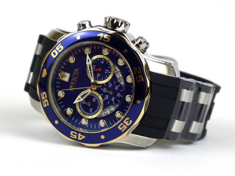 Invicta 22971 Pro Diver Chronograph Blue Dial Steel-Rubber Watch
