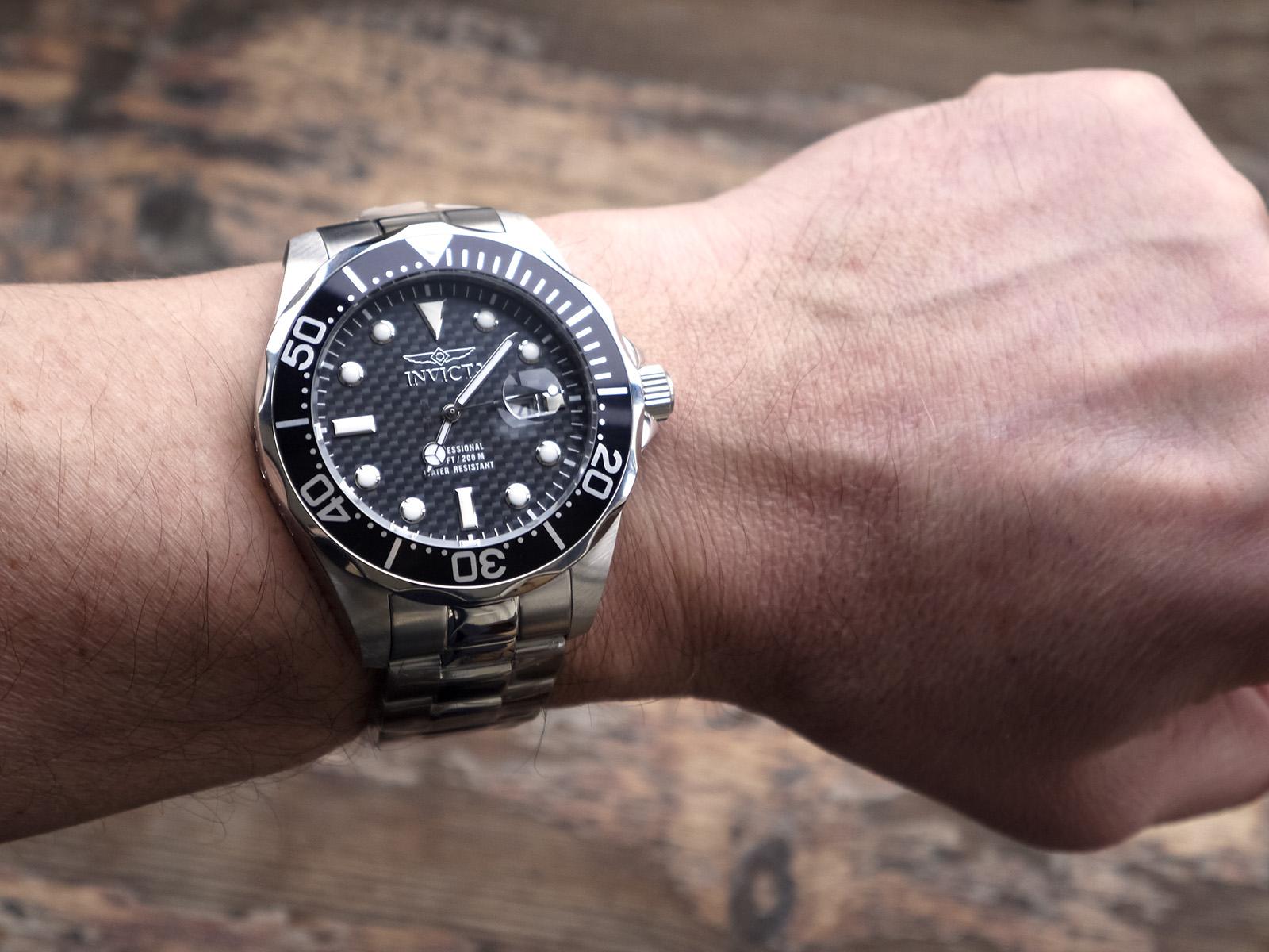 Invicta 12562 Pro Diver Black Carbon Fiber Dial Stainless