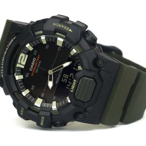 Casio HDC-700-3AV digi analog military style khaki black watch