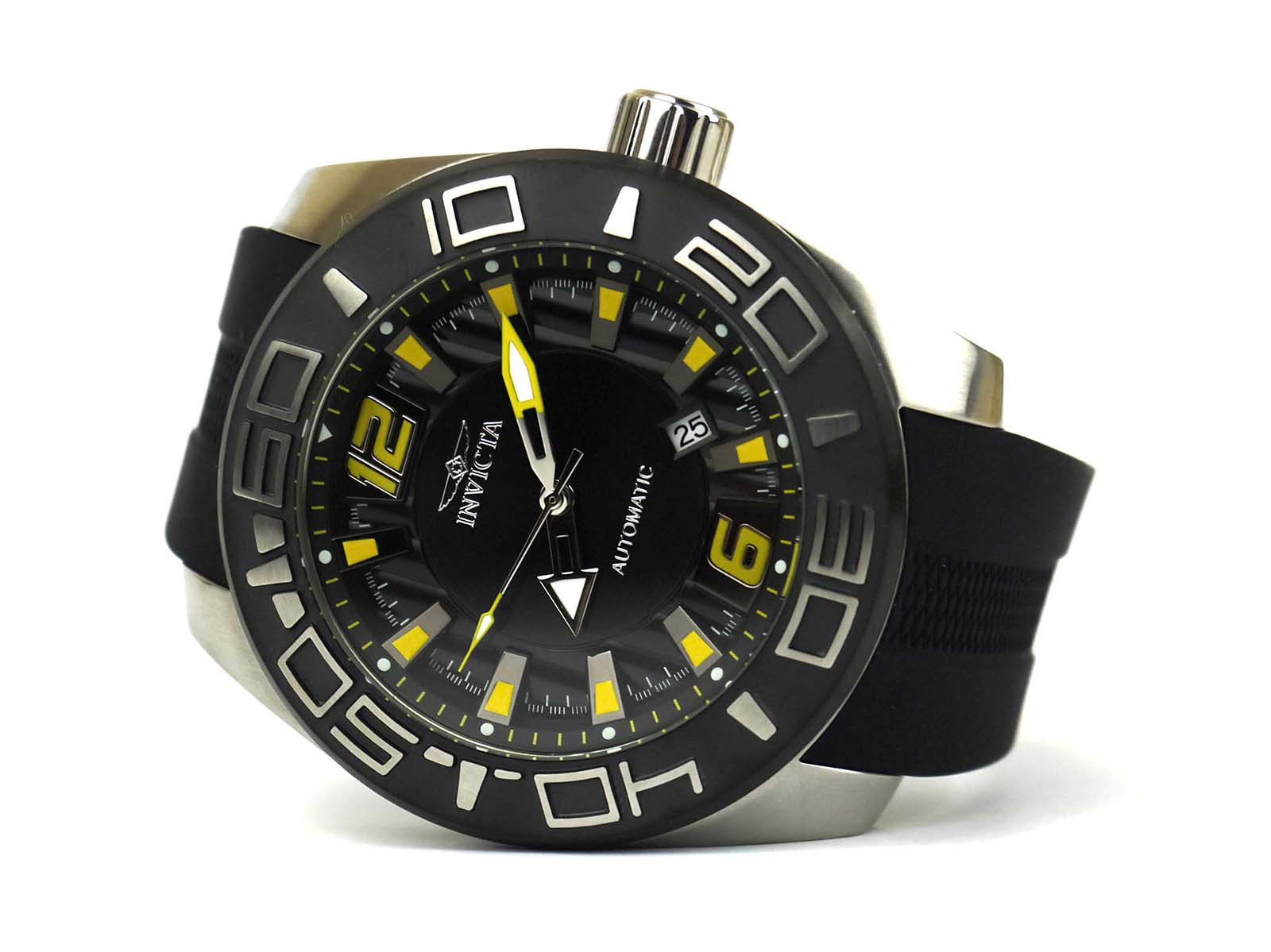 Invicta 23529 Aviator Automatic Stainless Steel and Silicone Casual Watch