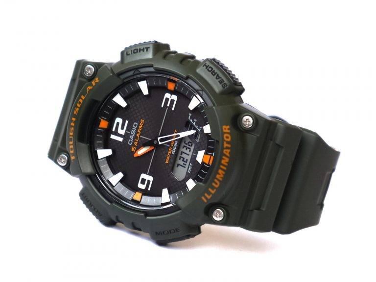 Casio-AQ-S810-3AV-Tough-Solar-Analog-Digital-Display-Green-Watch
