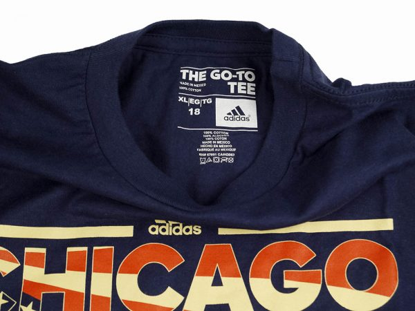Adidas NBA Chicago Bulls Boys Tee Navy