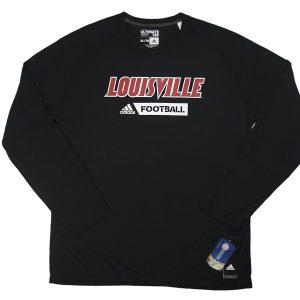 Adidas NCAA Louisville Cardinals Football Long Sleeve Tee Black