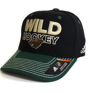 Cap Adidas NHL Minnesota Wild Locker Room Structured Flex Black