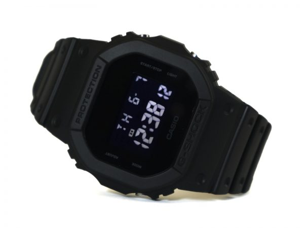 Casio DW-5600BB-1 G-Shock Black Resin Quartz Watch with Digital Dial