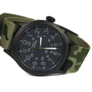 Timex Tw4B08400 Expedition Scout Green Camo Band Watch