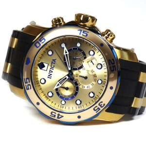 Invicta 17887 Pro Diver Blue-Accented and 18k Gold Ion-Plated Stainless Steel Watch