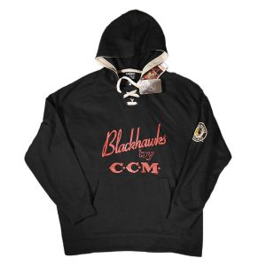CCM NHL Chicago Blackhawks Pullover Hood Black