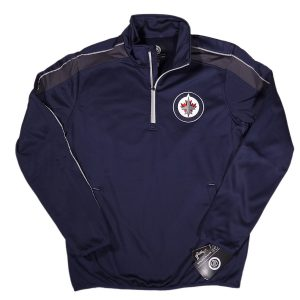 G-III NHL Winnipeg Jets Half Zip Pullover Jacket Navy