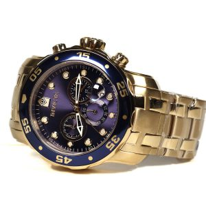 Invicta 0073 Pro Diver Collection Master of the Oceans 18k Gold