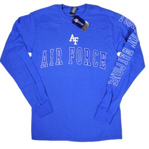 Ouray Sportswear Air Force Falcons Long Sleeve Tee Blue