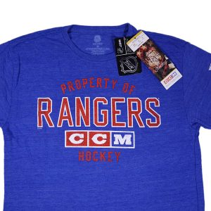 CCM NHL New York Rangers Team Property Tri-Blend Short Sleeve Tee Blue