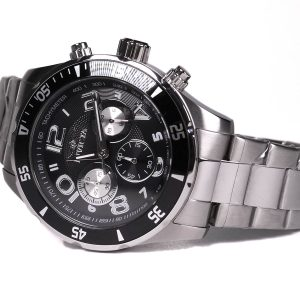 Invicta 12910 Pro Diver Stainless Steel Black Dial Watch