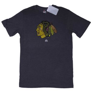 Majestic NHL Chicago Blackhawks Tee Grey