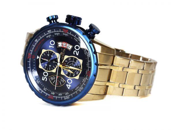 Invicta 19173 Aviator Gold Tone Blue Dial Watch