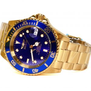 Invicta 8930OB Pro Diver Automatic Gold-Tone Blue Dial Watch