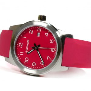 Wenger 010411131 Field Color Pink Dial Silicone Strap Ladies Watch