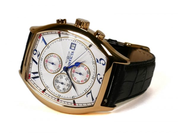 Invicta 14330 Specialty 18k Gold-Plated Watch with Three Interchangeable Leather Bands