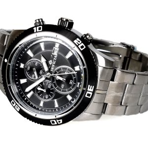 Invicta 17439 Specialty Analog Display Black Dial Japanese Quartz Silver Watch
