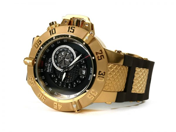 Invicta 6165 Noma III Subaqua Gold Plated GMT Swiss Made Watch