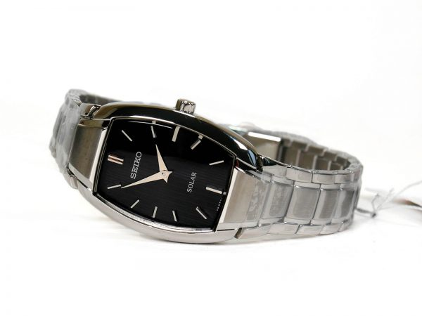 Seiko SUP259 Solar Core Black Dial Stainless Steel Ladies Watch