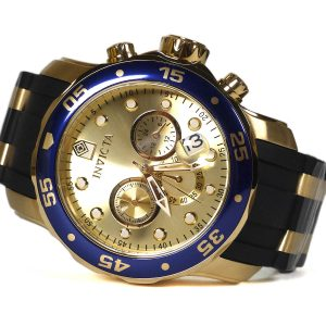 Invicta 17881 Pro Diver Chronograph Gold Tone Watch_01
