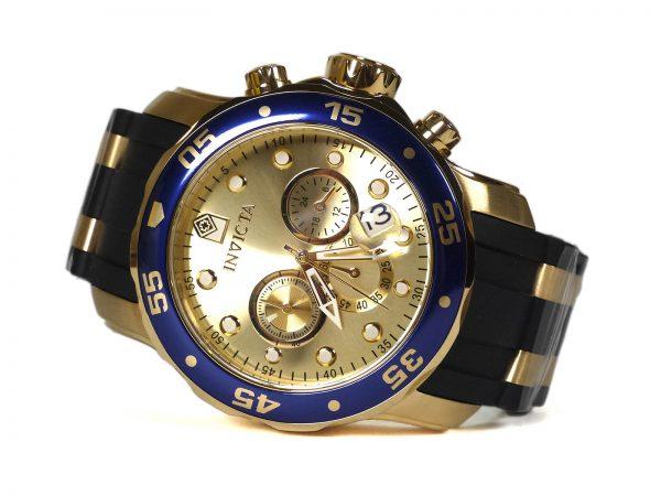 Invicta 17881 Pro Diver Chronograph Gold Tone Watch_01