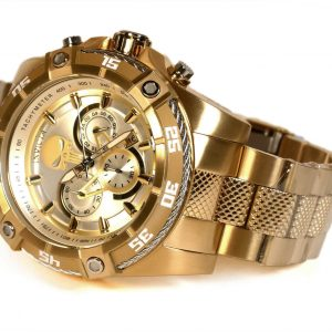 Invicta 26864 Marvel Punisher Gold Tone Chronograph Quartz Watch
