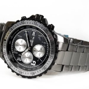 Invicta 6000 Specialty Collection Black Dial Stainless Steel Chronograph Watch