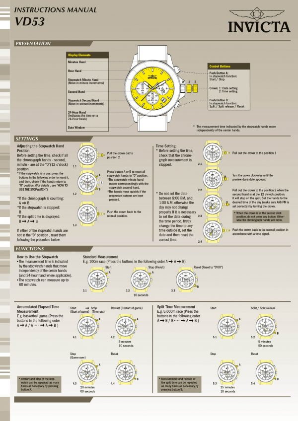 Invicta 9329 manual English