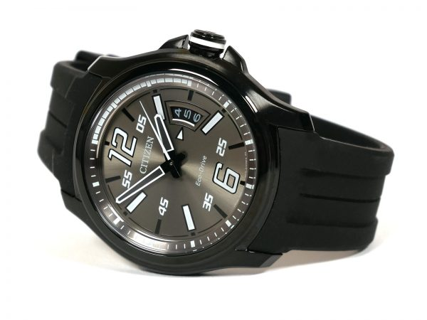 Citizen AW1354-15H Eco-Drive Black Case Resin Band Watch